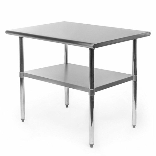 FastFurnishings Heavy Duty Stainless Steel 2 x 3 Ft Kitchen Kitchen Prep Table