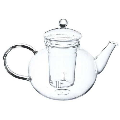 FastFurnishings Borosilicate Glass 1.32 Quart Teapot with Removable Infuser
