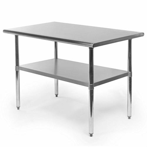 FastFurnishings Heavy Duty Stainless Steel 48 x 30 inch Kitchen Restaurant Prep Work Table