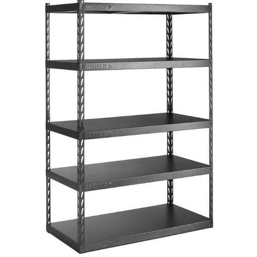 FastFurnishings Heavy Duty 48-inch Wide 5-Shelf Metal Shelving Unit