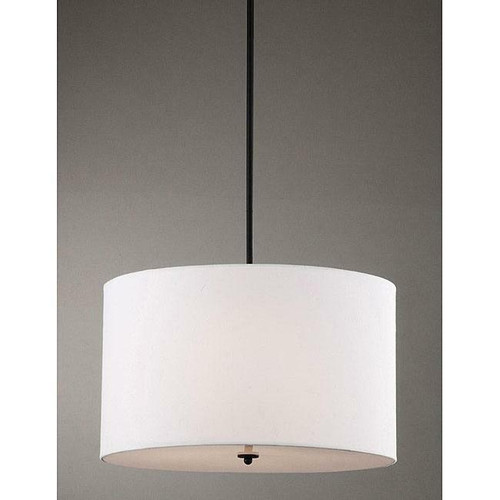 FastFurnishings Indoor 4-light White Shade Pendant Chandelier