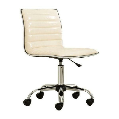 FastFurnishings Heavy Duty Beige Channel-Tufted Conference Chair