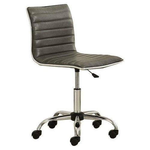 FastFurnishings Heavy Duty Gray Channel-Tufted Conference Chair