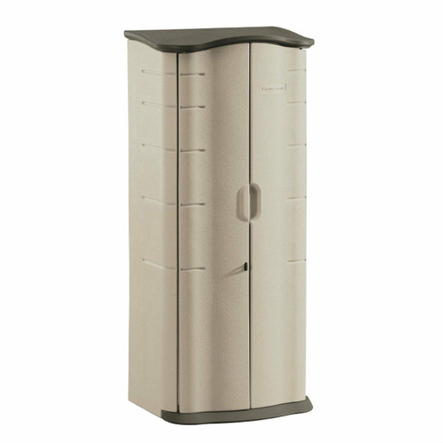 FastFurnishings Heavy Duty Vertical Outdoor Cabinet Weather Resistant Storage Shed