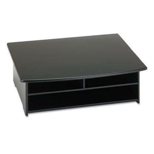 FastFurnishings 2-Shelf Printer Stand with Paper Holder in Black