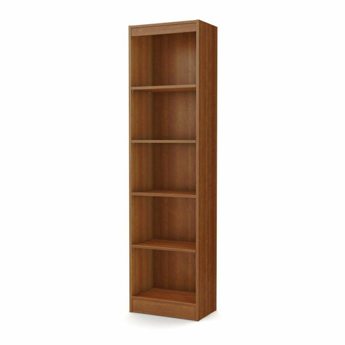 FastFurnishings Modern Narrow Bookcase with 5-Shelves in Morgan Cherry Finish