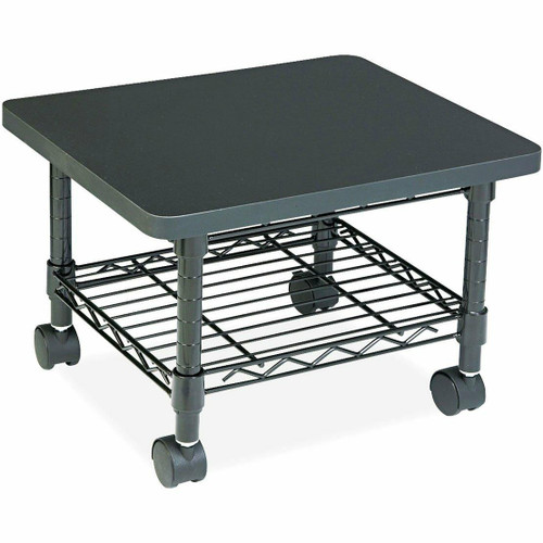 FastFurnishings Mobile Under Desk Home Office Fax / Printer Stand Cart with Shelf