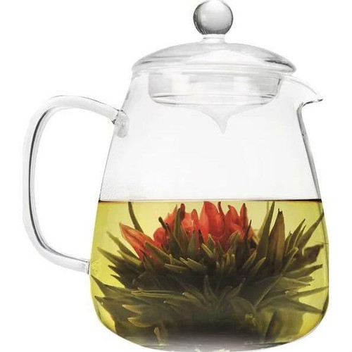 FastFurnishings Borosilicate Glass 36 Oz Teapot with Glass Tea Infuser
