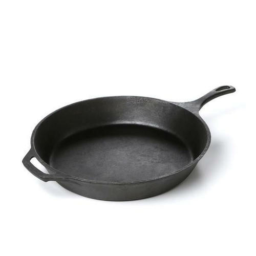 FastFurnishings Pre-Seasoned Cast Iron 15-inch Round Skillet