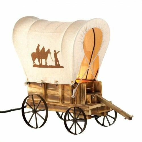 Accent Plus Western Wagon Table Lamp