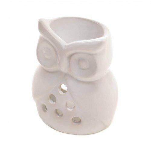 Fragrance Foundry White Ceramic Owl Oil Warmer
