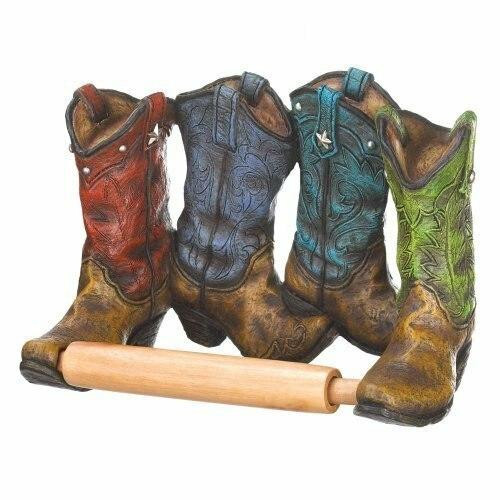 Accent Plus Cowboy Boots Toilet Paper Holder