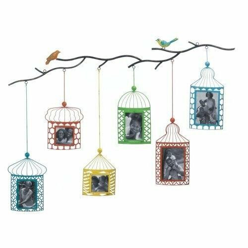 Accent Plus Birdcage Photo Frame Decor