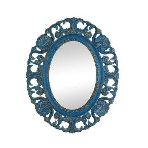 Accent Plus Vintage Belle Blue Mirror