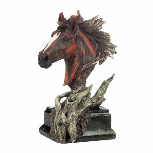 Accent Plus Driftwood Stallion Sculpture