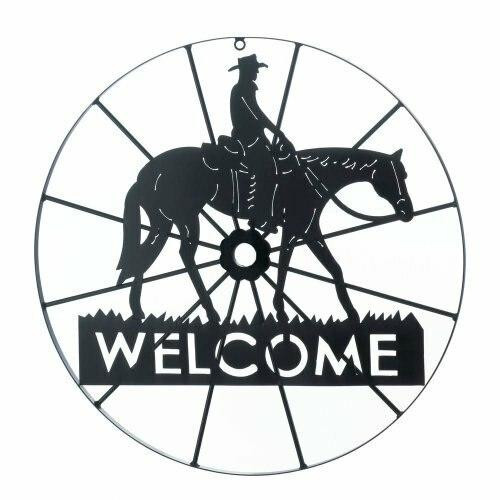 Accent Plus Cowboy Welcome Sign