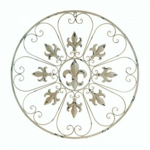 Accent Plus Circular Fleur De Lis Wall Decor