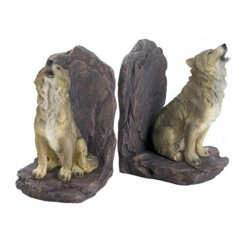 Accent Plus Howling Wolf Bookends