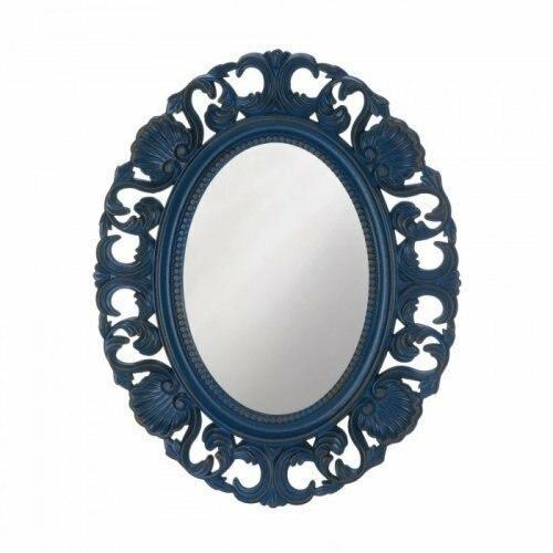 Accent Plus Blue Scallop Wall Mirror