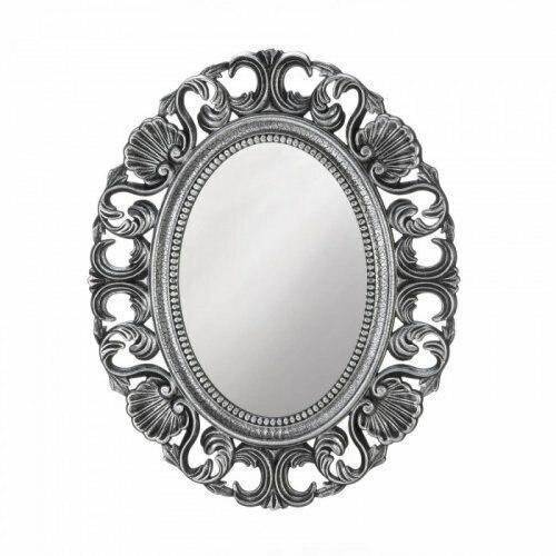 Accent Plus Silver Scallop Wall Mirror