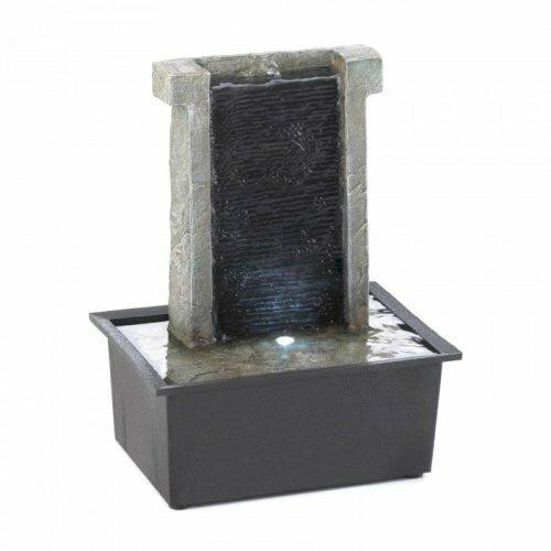 Accent Plus Stone Wall Tabletop Fountain