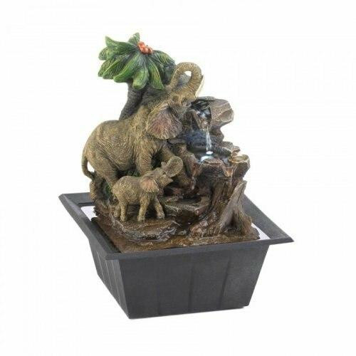Accent Plus Elephant Family Tabletop Fountain