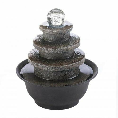 Cascading Fountains Tiered Round Tabletop Fountain