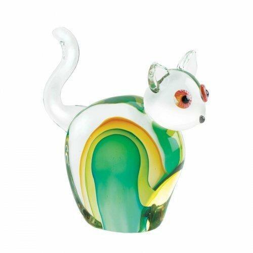 Accent Plus Cat Art Glass