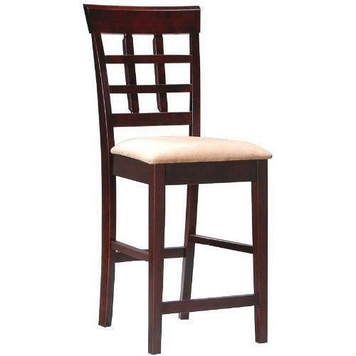 FastFurnishings Set of 2 - Counter Height Kitchen Dining Bar Stool Chairs