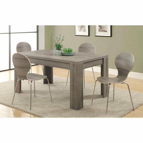 FastFurnishings Modern 60 x 36 inch Dark Taupe Rectangular Dining Table