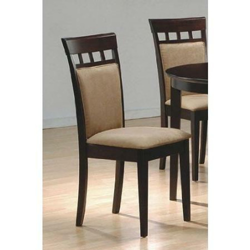 FastFurnishings Set of 2- Contemporary Dining Chairs in Cappuccino Finish