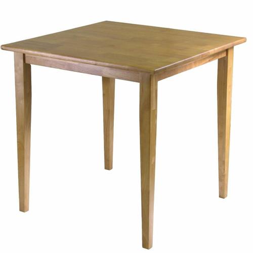 FastFurnishings Solid Wood Shaker Style Square Dining Table in Light Oak Finish