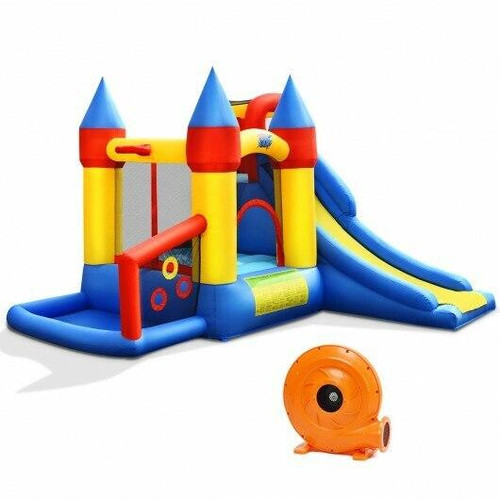 Inflatable Bounce House with Balls and 780W Blower