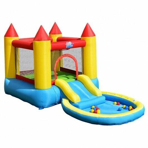 Kids Inflatable Bounce House Castle with Balls Pool and Bag