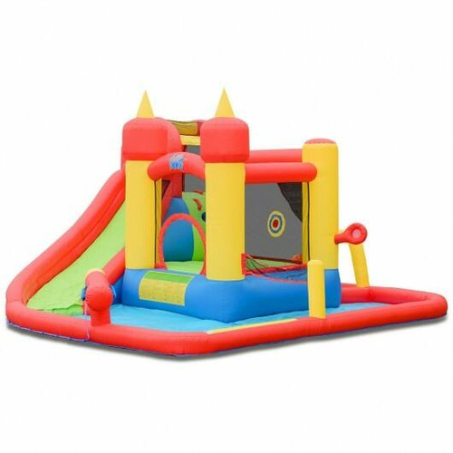Inflatable Water Slide Jumping Bounce House with Ocean Ball