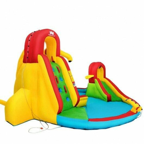 Kids Gift Inflatable Water Slide Bounce Park with 480 W Blower