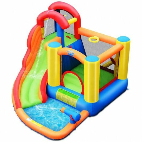 Kid Inflatable Bounce House Water Slide Castle with Blower