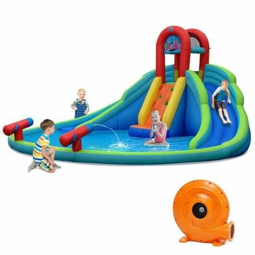 Inflatable Water Slide Bounce House with Mighty Splash Pool