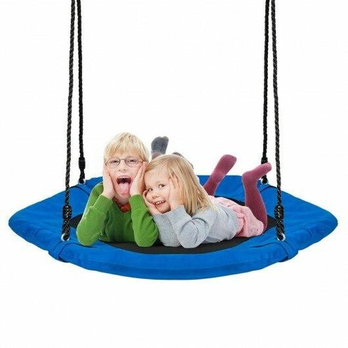 37 Hexagon Tree Kids Swing with Adjustable Hanging Rope-Blue