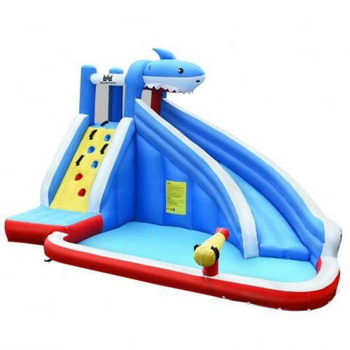 Inflatable Water Slide Shark Bounce House Castle without Blower