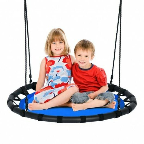40 Flying Saucer Round Swing Kids Play Set-Blue