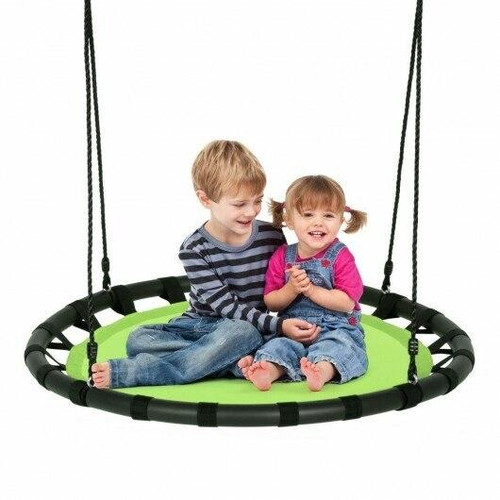 40 Flying Saucer Round Swing Kids Play Set-Green