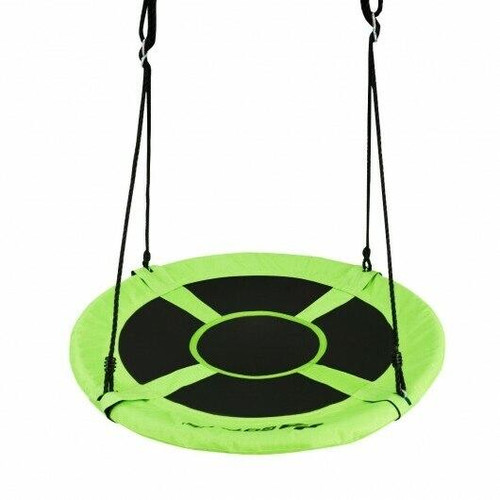 40 770 lbs Flying Saucer Tree Swing Kids Gift with 2 Tree Hanging Straps-Green