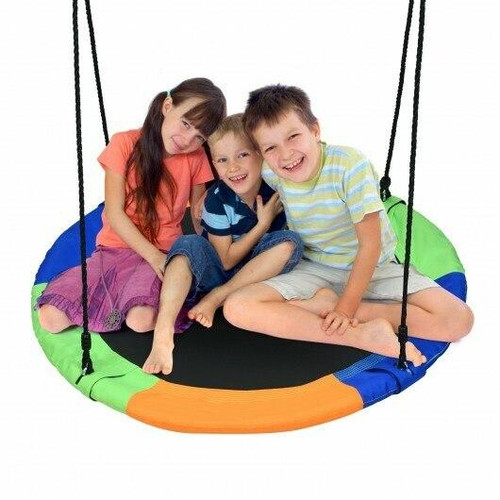 40 Flying Saucer Tree Swing Outdoor Play Set with Adjustable Ropes Gift for Kids