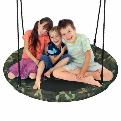 40 Flying Saucer Tree Swing Outdoor Play Set with Adjustable Ropes Gift for Kids - CWOP70581