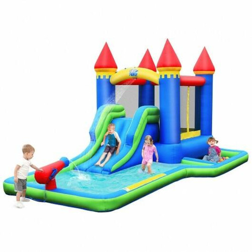 Kids Inflatable Bounce House Water Slide without Blower