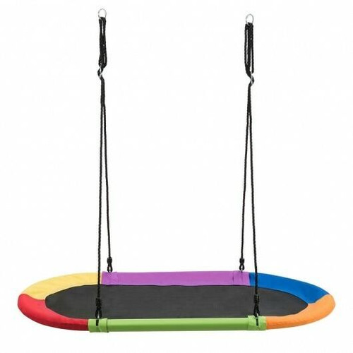 60 Saucer Surf Outdoor Adjustable Swing Set-Colorful