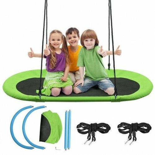 60 Saucer Surf Outdoor Adjustable Swing Set-Green