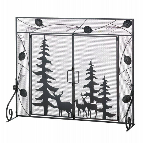 Accent Plus Woodland Forest Fire Place Screen