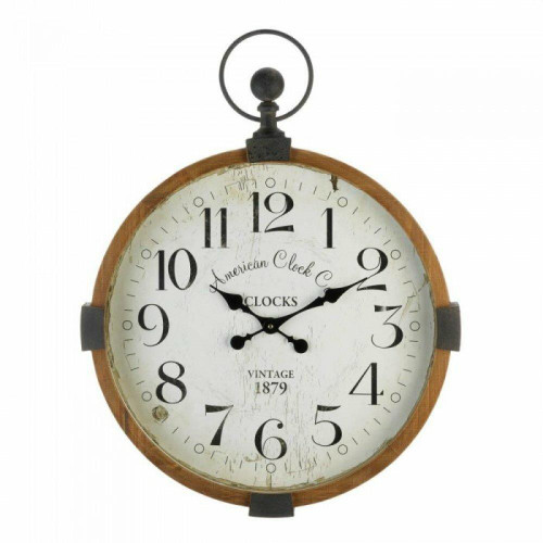 Accent Plus Vintage Industrial Wall Clock